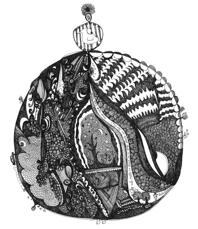 Gentleman's Pocket Watch - Pen & Ink Illustration by Virginia Kraljevic